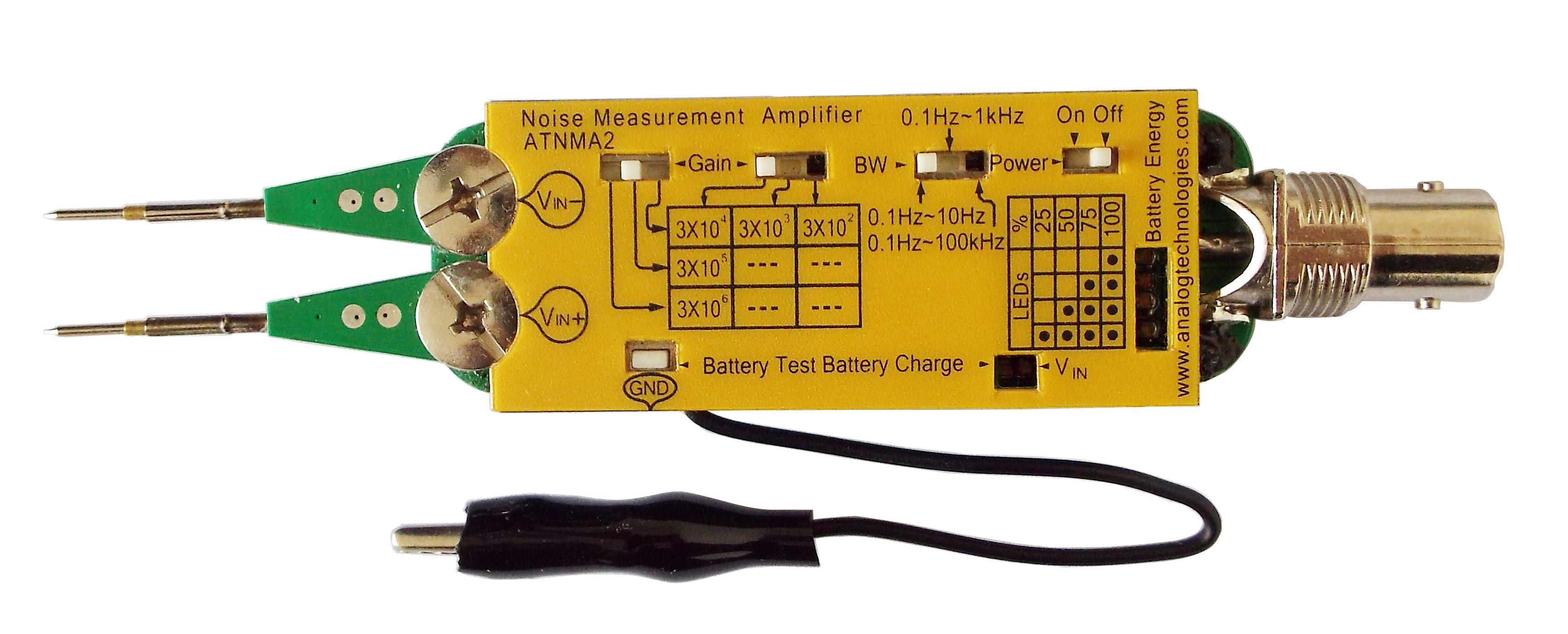 Noise Measurement Amplifier Analog Technologies Inc Current And Amplification Electronics Electrical