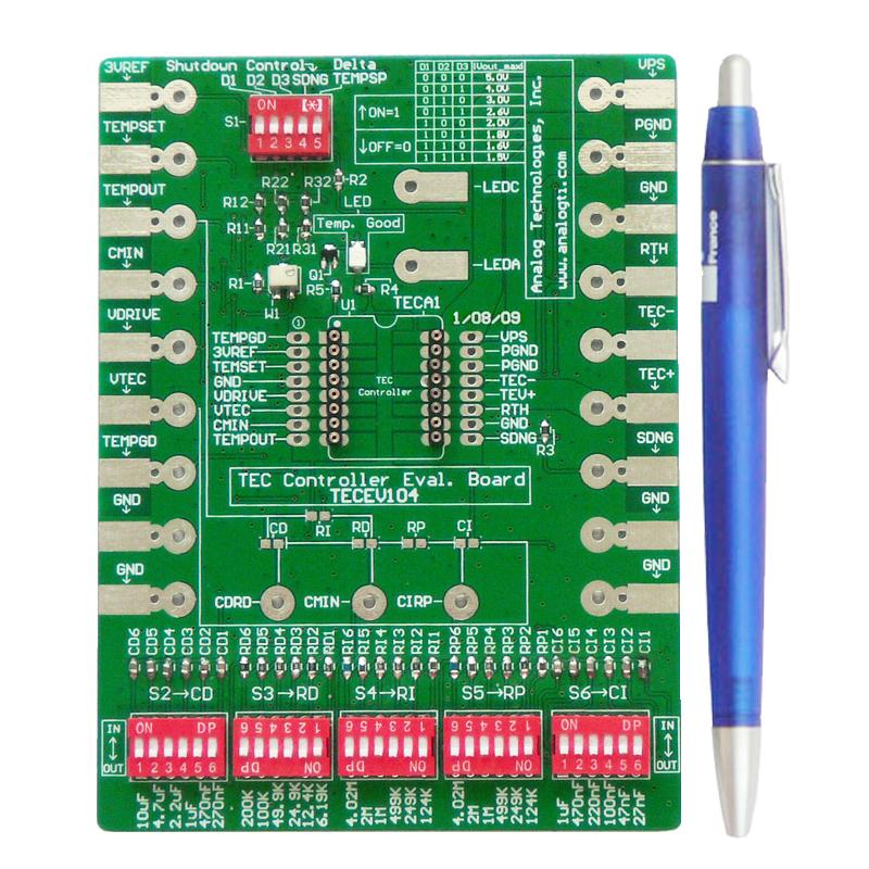 evaluation board tecev104 for tec controllers teca1 5v 5v d analog rh analogtechnologies com